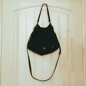 Coach Isabelle E/W Shoulder Hobo Bag Black F35809